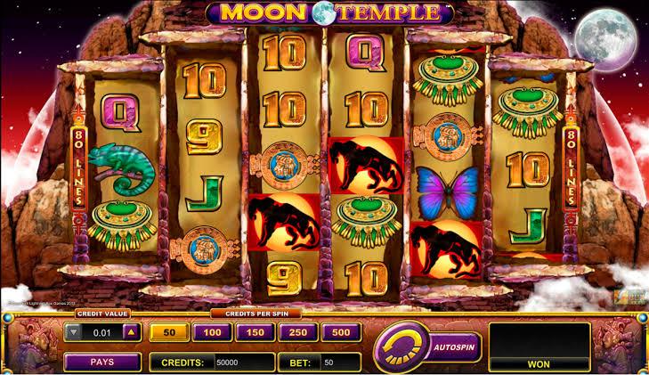 เกมส์เล่นได้เงิน กับเกมส์สล็อต Moon Temple