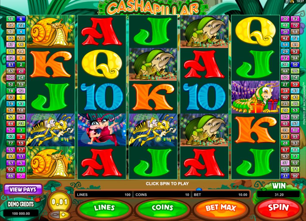 ตู้ สล็อต ออนไลน์ สร้างเงินไปกับเกมส์ Cashapillar Slot